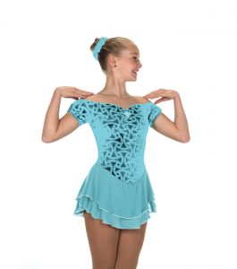 Jerrys Aquamarine Gemology Skating Dress 213 Front