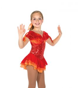 Jerrys Fan the Flames Skating Dress 161 Front