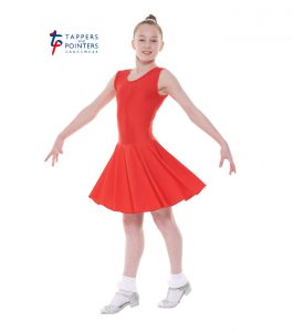 Latin Length Red Sleeveless Ballroom Dress