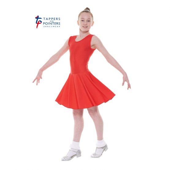 Latin Length Red Sleeveless Ballroom Dress