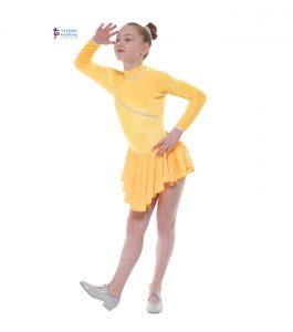 Long Sleeve Velvet Dress Sunshine Yellow