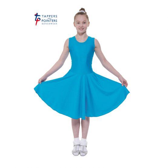 Standard Length Kingfisher Sleeveless Ballroom Dress