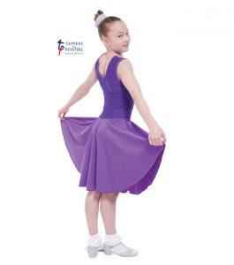 Standard Length Purple Sleeveless Ballroom Dress with Lace
