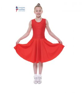 Standard Length Red Sleeveless Ballroom Dress with Lace