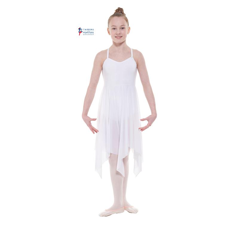 04993fb32f828 White Lyrical Dance Dress - Dancewear Universe