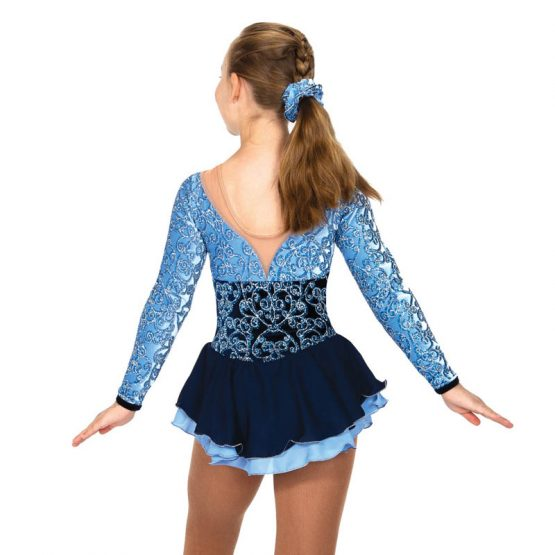 Jerry's 64 Tiers of Blue Skating Dress back