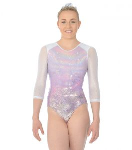 Ariana Three Quarter Sleeve Gymnastic Leotard