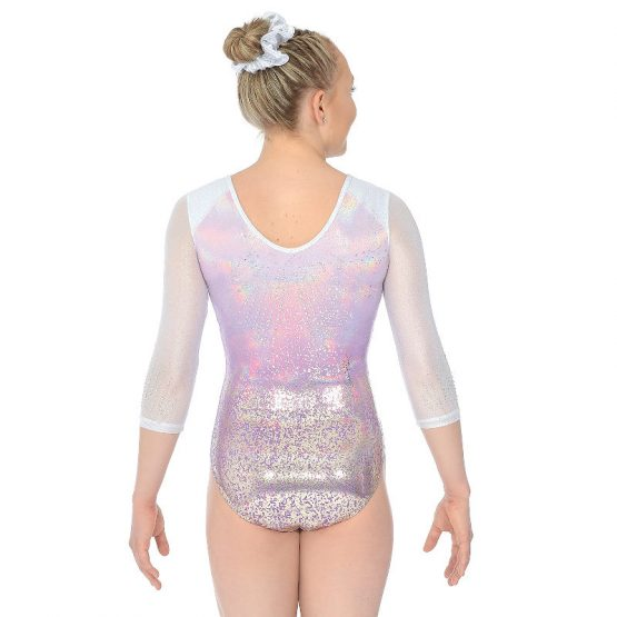 Ariana Three Quarter Sleeve Gymnastic Leotard Back