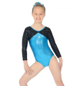 Belle Three Quarter Sleeve Gymnastic Leotard