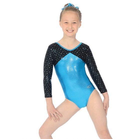 Belle Three Quarter Sleeve Gymnastic Leotard