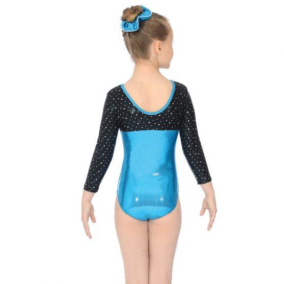Belle Three Quarter Sleeve Gymnastic Leotard Back