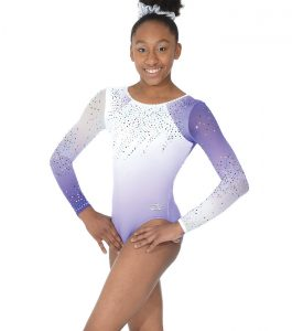 Diamond Long Sleeve Gymnastic Leotard