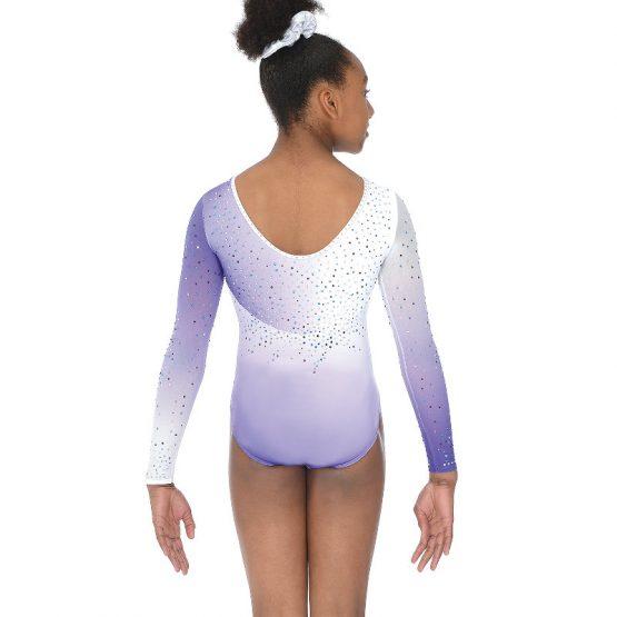 Diamond Long Sleeve Gymnastic Leotard Back