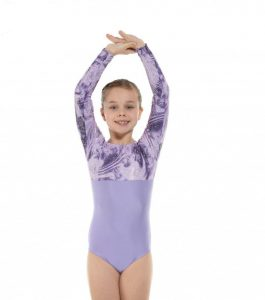 GYM 8 Lycra and Foil Gymnastic Leotard Lilac