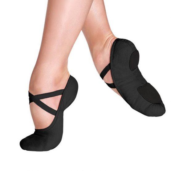 So Danca SD16 Split Sole Ballet Shoes Black