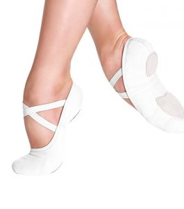 So Danca SD16 Split Sole Ballet Shoes White