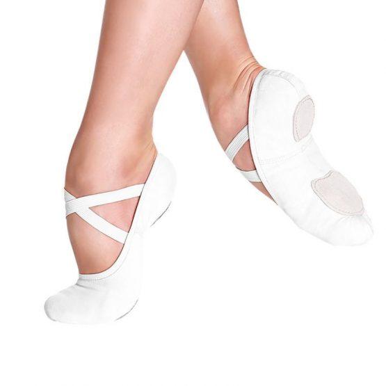 So Danca SD16 Split Sole Ballet Shoes White